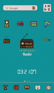 빈티지 라디오 도돌런처 테마
