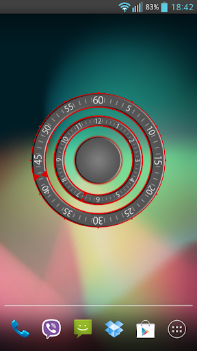 Modern Three Clock Widget