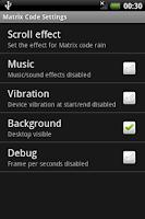 Screenshot of Matrix Code
