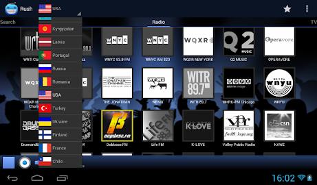 RUSH online radio and TV Screenshot 11