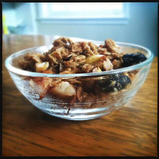 Fall Inspired Apple Granola (gluten/dairy/sugar free).