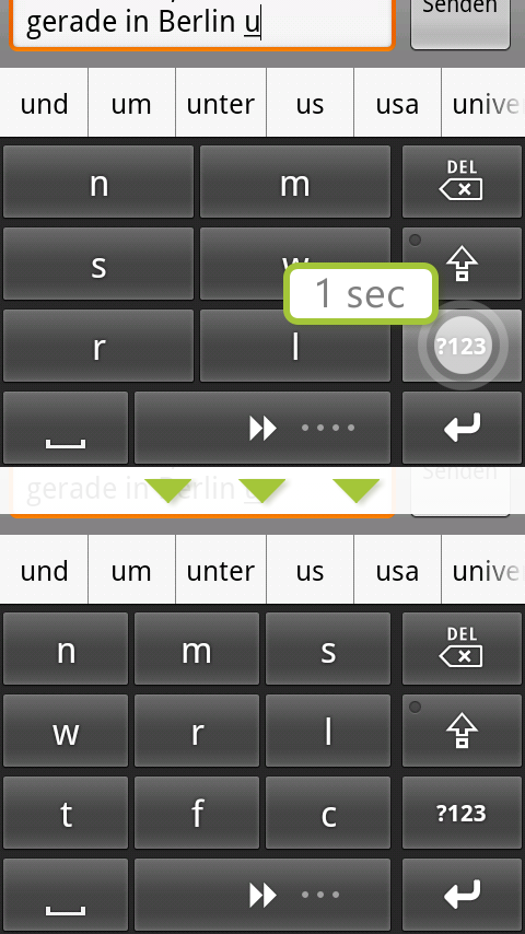 comfortTap Keyboard (EN) Beta- screenshot