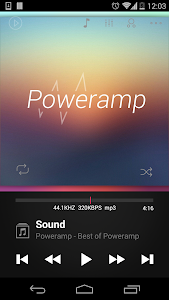 Poweramp skin Dark 2in1 v1.0.3