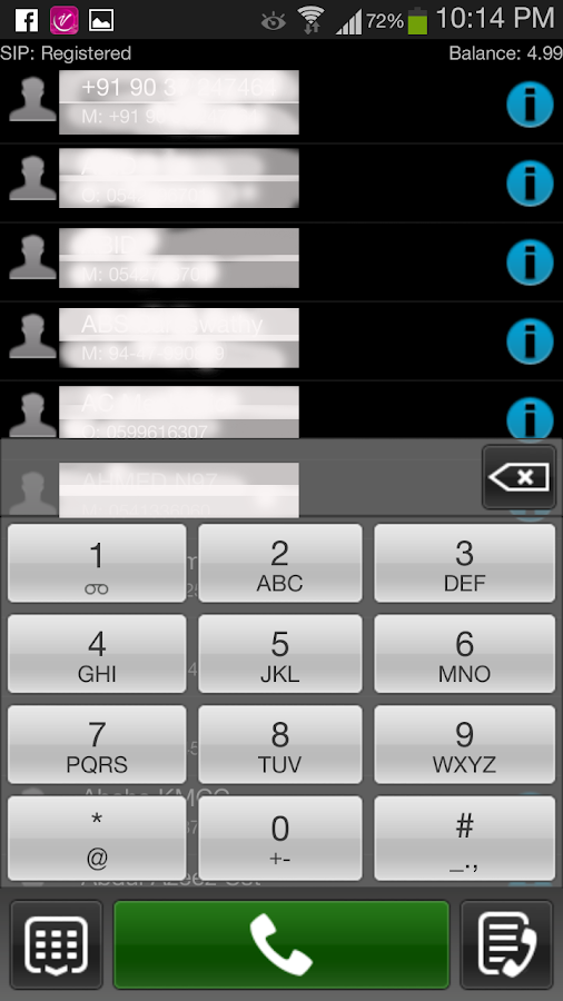 iTellVoip- screenshot
