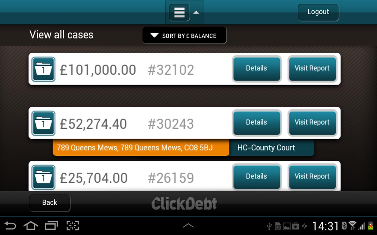 ClickDebt - screenshot