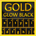 Gold Glow Black Keyboard Theme icon