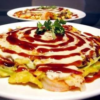 Japanese Okonomiyaki.