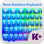Neon Rainbow Keyboard Theme