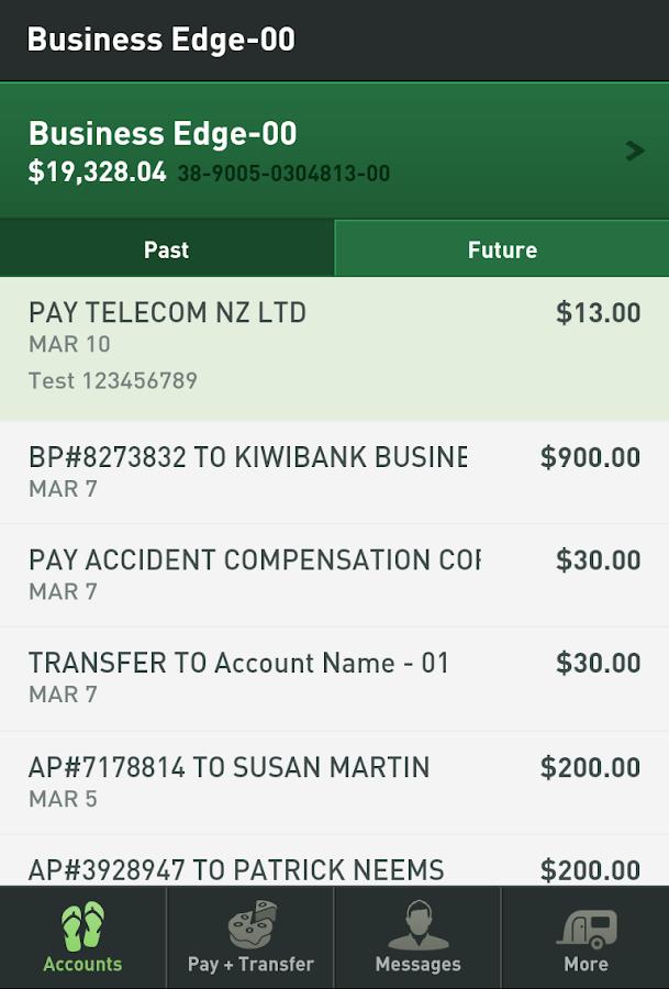 Kiwibank Mobile Banking- screenshot