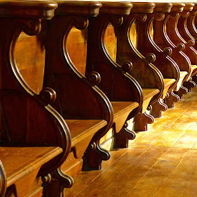 by Laura Payne - Artistic Objects Antiques ( chair, separate, church, floor, side, seat, clergy, pew, section, wall, compartment, choir, wood, closeup, quality, detail, new, fresh, win, 2013, 2014, , relax, tranquil, relaxing, tranquility )