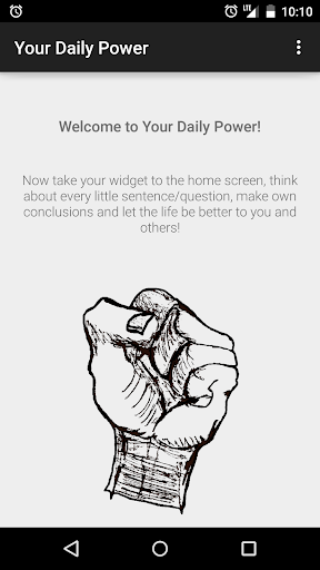 Your Daily Power - Widget