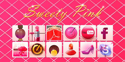 Sweety Pink GO Launcher Theme