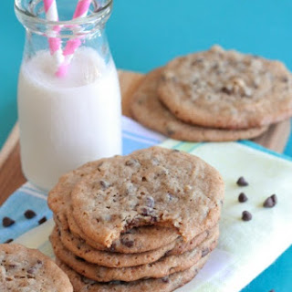 Peanut Butter and Honey Whole Wheat Chocolate Chip Cookies.