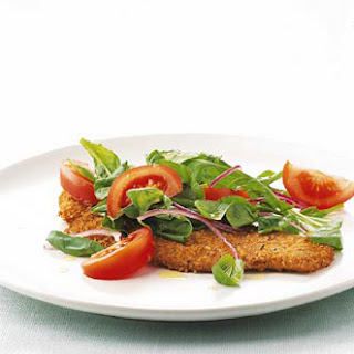 Veal Cutlets with Arugula and Tomato Salad
