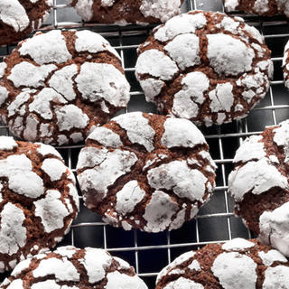 Chocolate Crinkle Cookies.