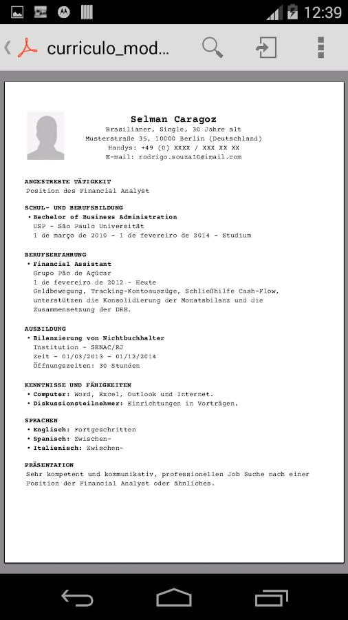 Großartig Download Lebenslauf Proben Für Erfahrene Profis ...