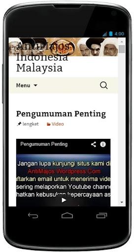 Anti Majos Indonesia Malaysia