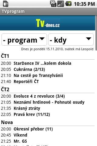 TV program- screenshot