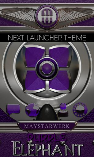Next Launcher Theme Purple Ele