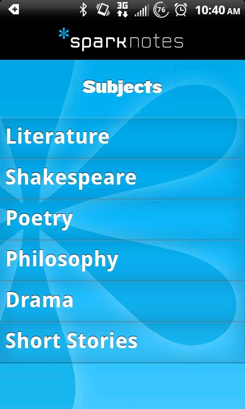 SparkNotes - screenshot