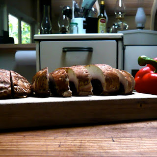 Portobello Burgers with Arugula, Peppers and Garlic-Mayonnaise