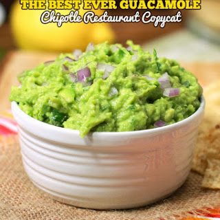 The Best Ever Guacamole - Copycat Chipotle's Restaurant