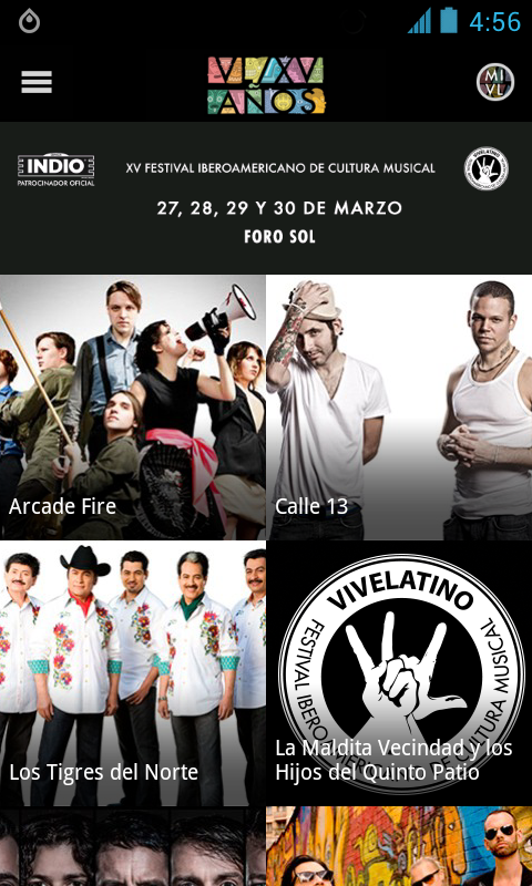 Vive Latino 2014 - screenshot
