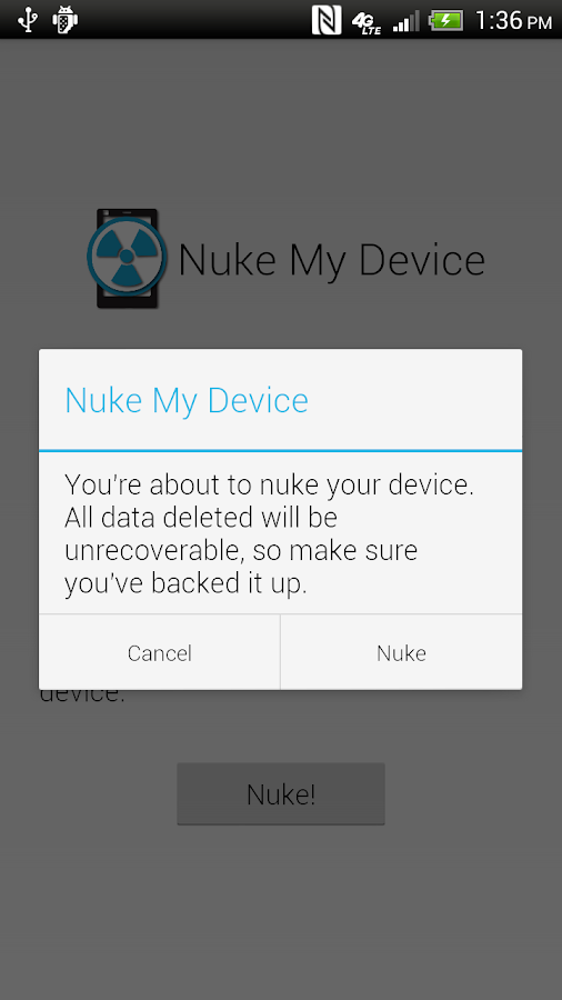Nuke My Device - screenshot