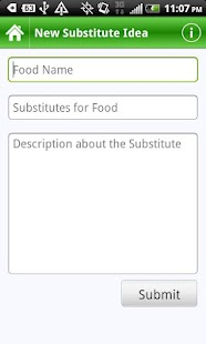 Food Substitutes- screenshot thumbnail