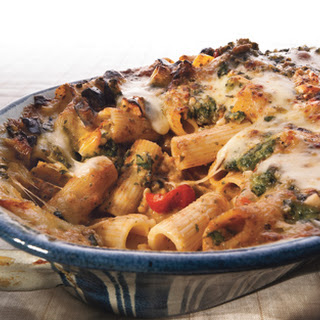 Rigatoni with Eggplant and Pine Nut Crunch.