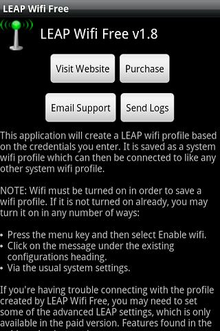 LEAP Wifi Free - screenshot