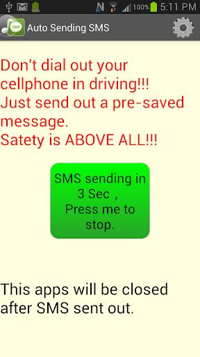 Auto quick sending SMS app