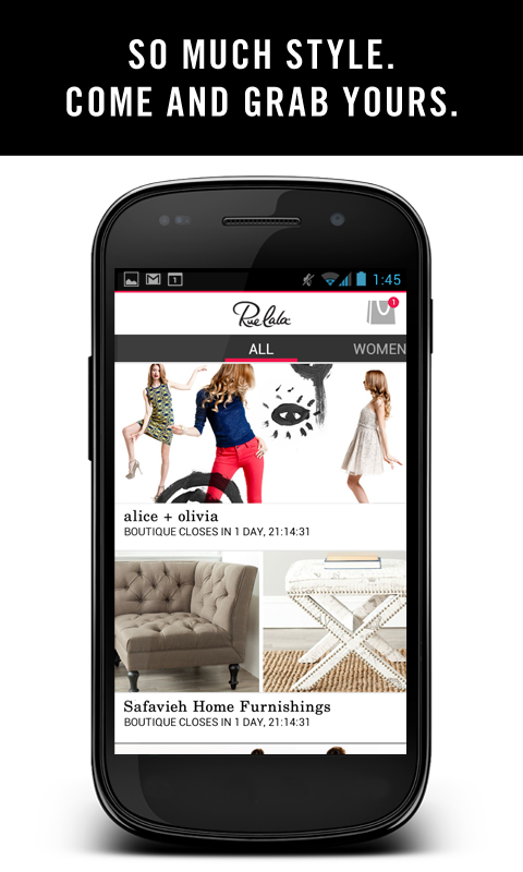 Rue La La - Shop All Day - screenshot