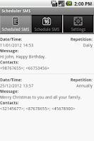 Screenshot of Scheduler SMS LITE