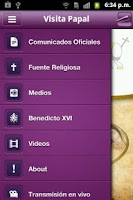 Screenshot of Visita Papal