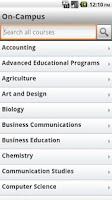 Screenshot of FHSU Mobile