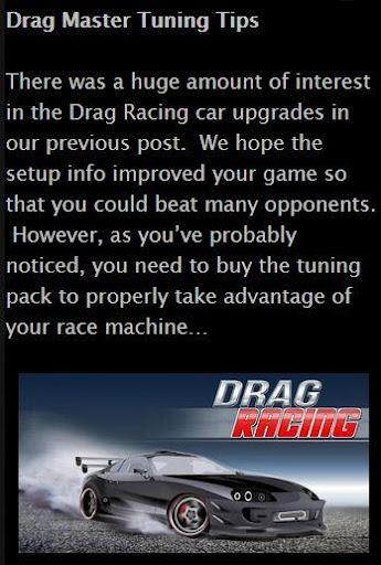 Drag Master Tuning Tips