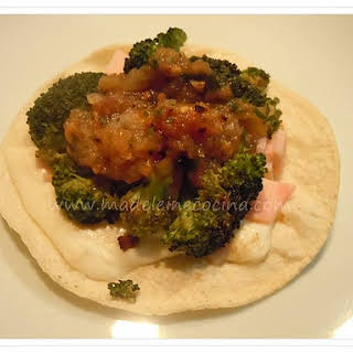 Tostadas with Broccoli.