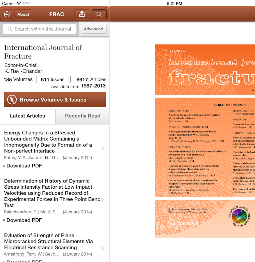Intl Journal of Fracture- screenshot