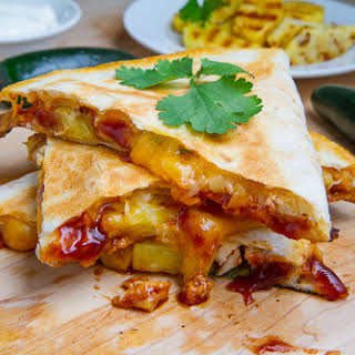 BBQ Chicken and Pineapple Quesadillas.