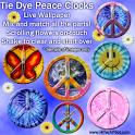 Tie Dye Peace Clocks Live icon