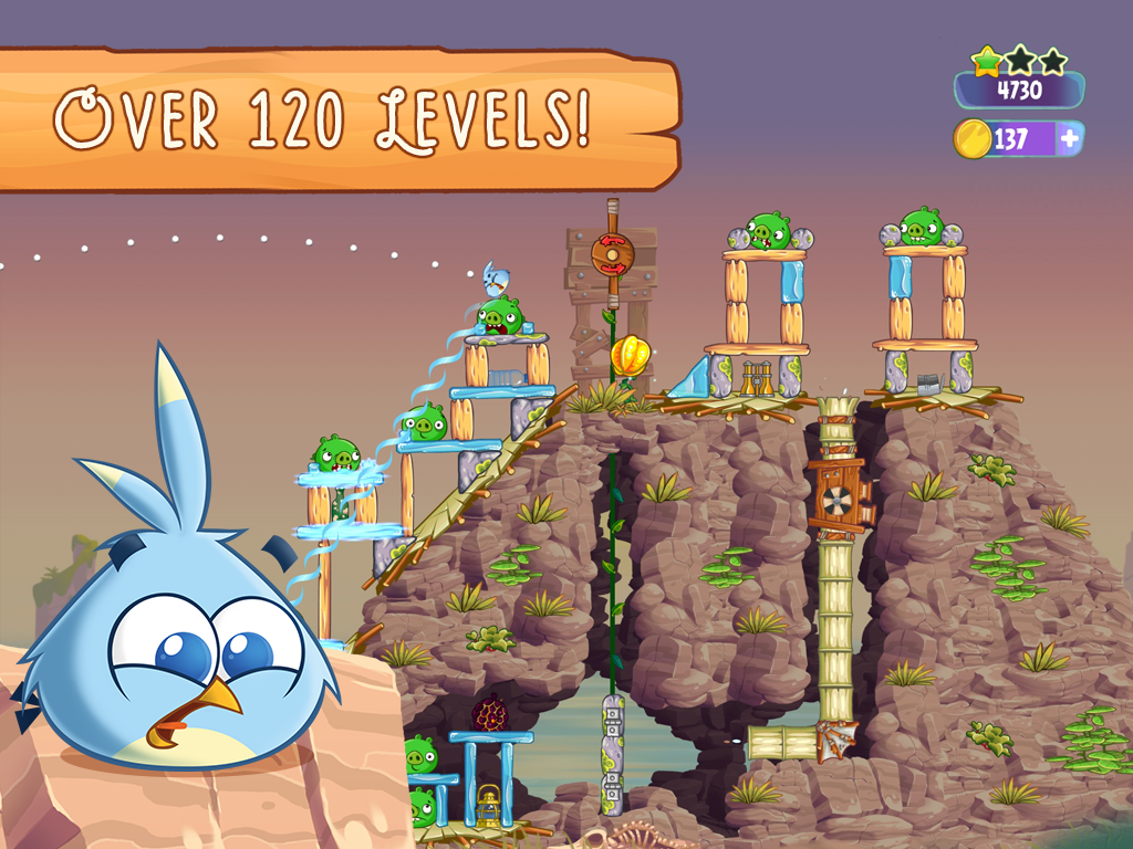 Angry Birds Stella - screenshot