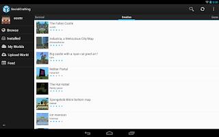 Screenshot of SocialCrafting: Minecraft Maps