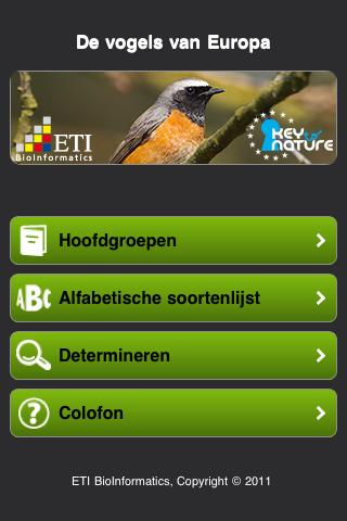 Vogels van Europa - screenshot