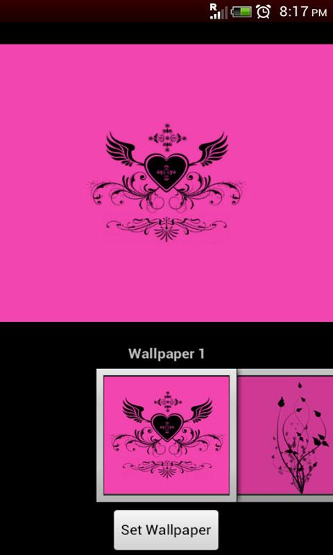 GO Locker Black-Pink Theme - screenshot