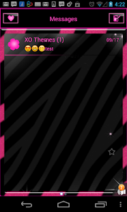 GO SMS PRO Pink Zebra theme- screenshot thumbnail