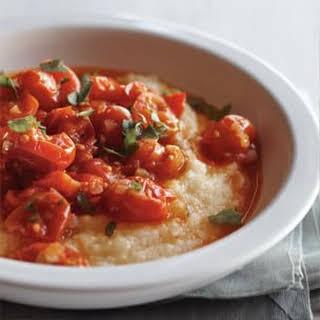 Cherry Tomato Ragu with Polenta.
