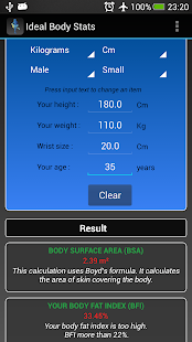 Ideal Weight BMI Adult & Child- screenshot thumbnail