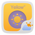 YELLOW THEME GO WEATHER EX icon