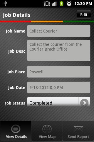 Field Job Reporting- screenshot